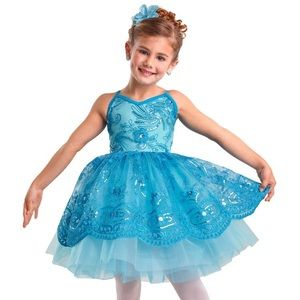 Girls princess fairy beautiful blue dress